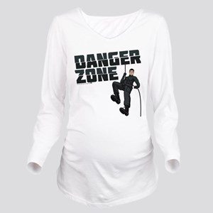 Archer Danger Zone Long Sleeve Maternity T-Shirt