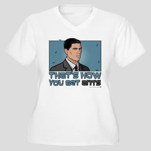 Archer Get Ants Women's Plus Size V-Neck T-Shirt