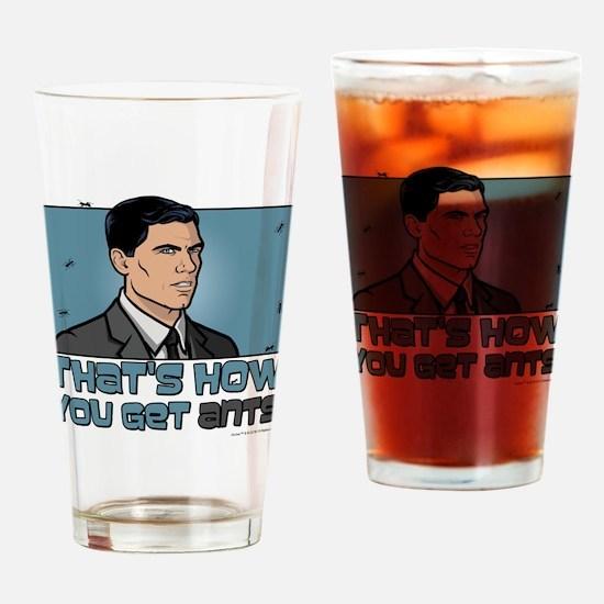 Archer Get Ants Drinking Glass
