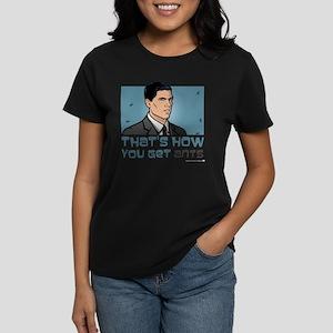 Archer Get Ants Women's Dark T-Shirt