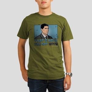 Archer Get Ants Organic Men's T-Shirt (dark)