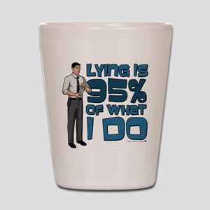 Archer Lying Shot Glass