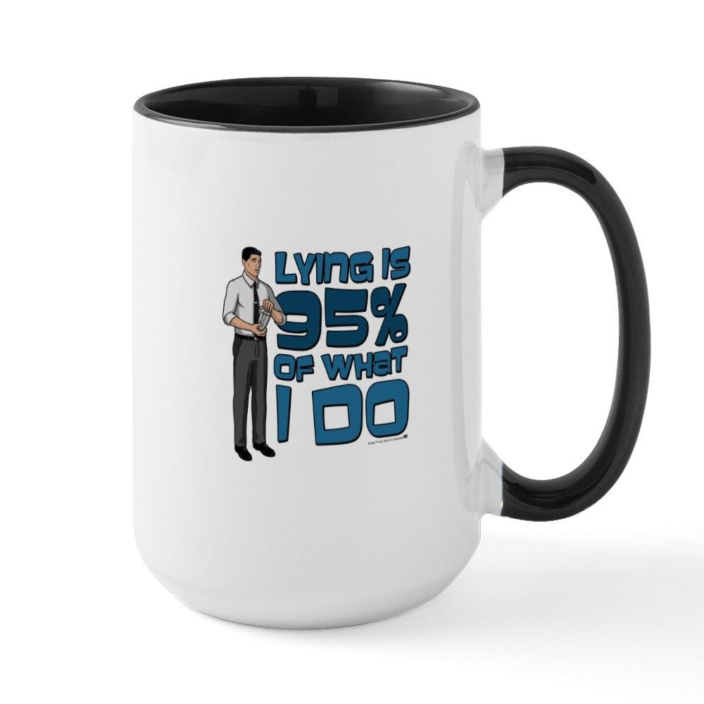 CafePress Archer Lying Coffee Mug, Large 15 oz. White ...