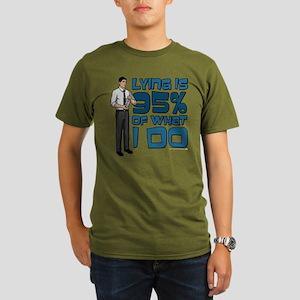 Archer Lying Organic Men's T-Shirt (dark)