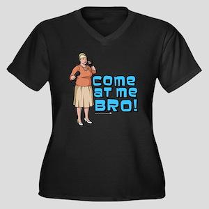 Archer Bro Women's Plus Size V-Neck Dark T-Shirt