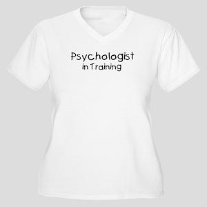 Psychologist in Training Women's Plus Size V-Neck