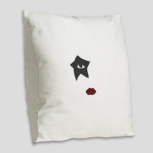 kiss Burlap Throw Pillow