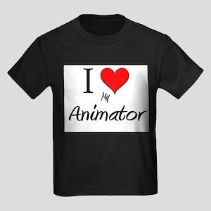 I Love My Animator Kids Dark T-Shirt