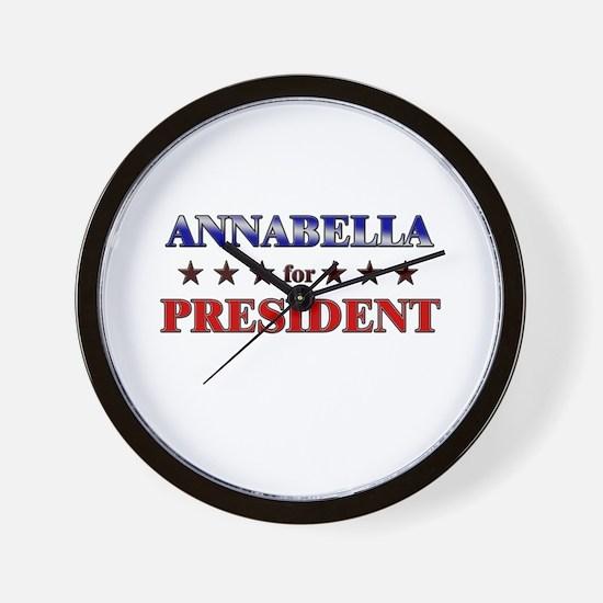 ANNABELLA for president Wall Clock