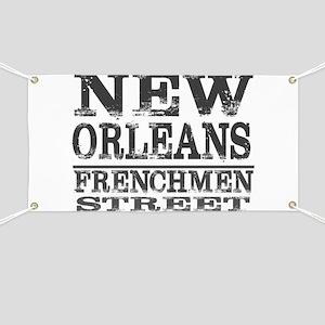 NEW ORLEANS FRENCHMEN STREET Banner