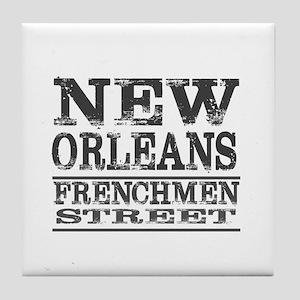 NEW ORLEANS FRENCHMEN STREET Tile Coaster