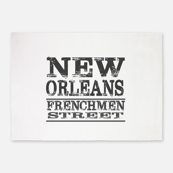 NEW ORLEANS FRENCHMEN STREET 5'x7'Area Rug