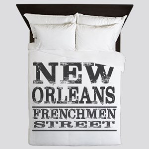 NEW ORLEANS FRENCHMEN STREET Queen Duvet