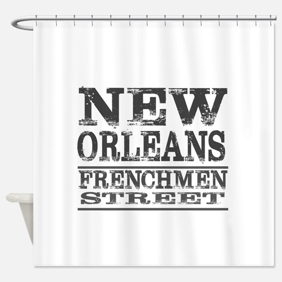 NEW ORLEANS FRENCHMEN STREET Shower Curtain