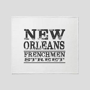 NEW ORLEANS FRENCHMEN STREET Throw Blanket