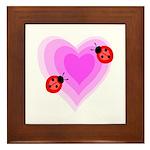Ladybug Love Framed Tile