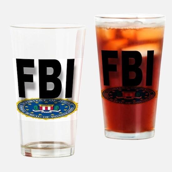 Cute Fbi Drinking Glass