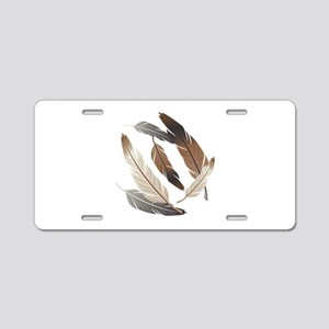Feathers Aluminum License Plate
