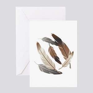 Feathers Greeting Cards
