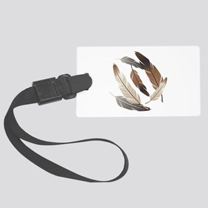 Feathers Luggage Tag