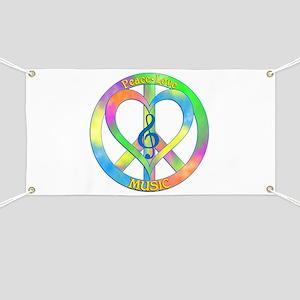 Peace Love Music Banner