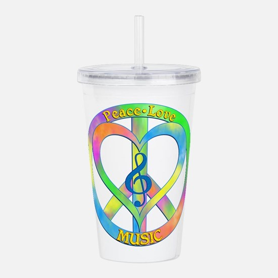 Peace Love Music Acrylic Double-wall Tumbler
