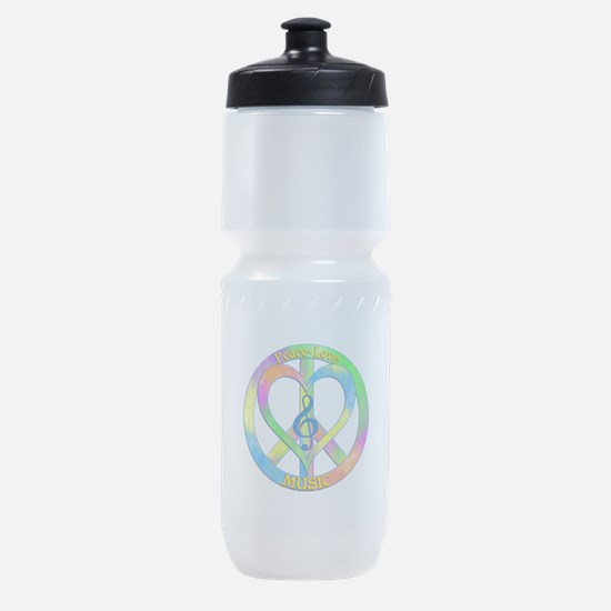Peace Love Music Sports Bottle