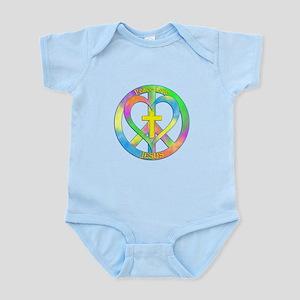 Peace Love Jesus Infant Bodysuit