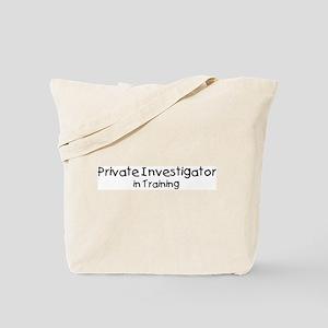 Private Investigator in Train Tote Bag