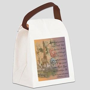 ParisABCDE12 Canvas Lunch Bag