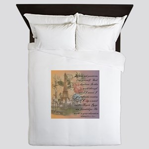 ParisABCDE12 Queen Duvet