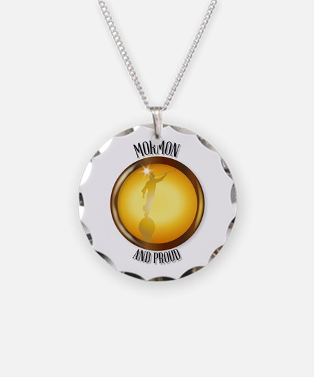 Mormon And Proud Button Necklace Circle Charm