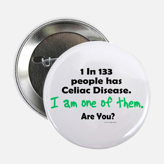 "1 In 133 Has Celiac Disease 1.1 2.25"" Button (10 p"