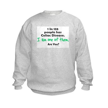 1 In 133 Has Celiac Disease 1.1 Kids Sweatshirt