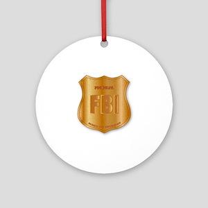 FBI Spoof Shield Badge Round Ornament