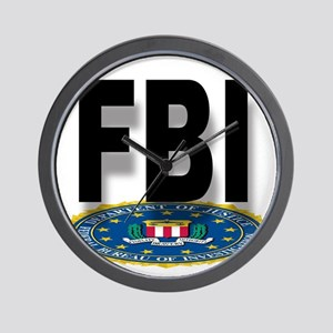 FBI Seal With Text Wall Clock