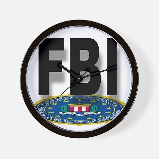 FBI Seal With Text Wall Clock