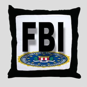 FBI Seal With Text Throw Pillow