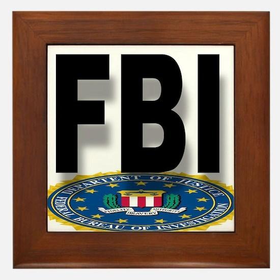 FBI Seal With Text Framed Tile