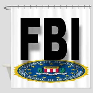 FBI Seal With Text Shower Curtain