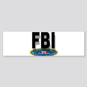 FBI Seal With Text Bumper Sticker
