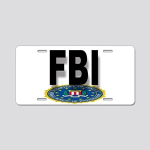 FBI Seal With Text Aluminum License Plate