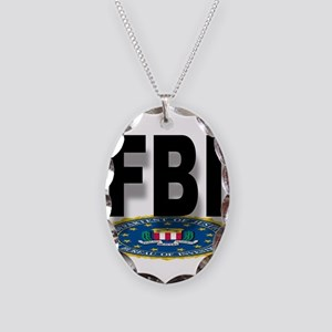 FBI Seal With Text Necklace Oval Charm