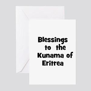 Blessings  to  the  Kunama of Greeting Cards (Pk o