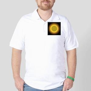 Dotted Golden Orb Golf Shirt