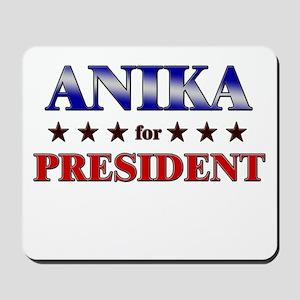 ANIKA for president Mousepad