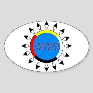 Navajo Oval Sticker