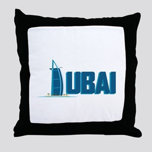 Dubai Hotel Throw Pillow
