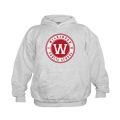White Hoodie Big Logo On Front Sweatshirt