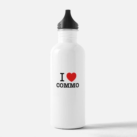 I Love COMMO Water Bottle